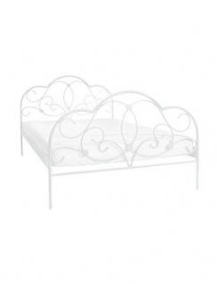 Romantisches Bett 160x200 Weiß Ehebett Gästebett Doppelbett Metallbett Günstig Yategocom