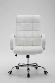 Bürostuhl bis 120 kg belastbar Kunstleder weiß Chefsessel hochwertig klassisch - Vorschau 2