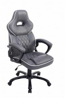 XXL Chefsessel grau 180 kg belastbar Bürostuhl schwere Personen stabil robust