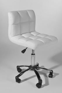Arbeitshocker Kunstleder weiß Drehstuhl Bürostuhl hochwertig belastbar neu