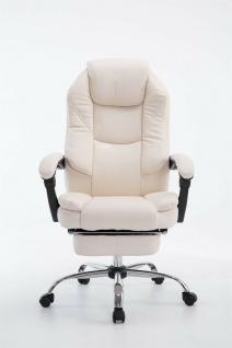 Bürostuhl 120 kg belastbar creme Kunstleder Chefsessel Computerstuhl Drehstuhl