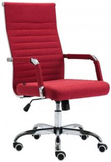 Bürostuhl 120 kg belastbar Stoff rot Chefsessel Drehstuhl Computerstuhl stabil