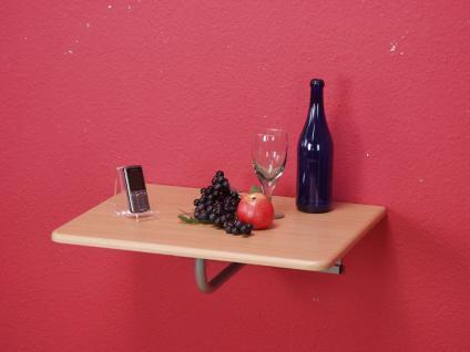 Wandtisch abklappbar Buche Telefontisch Tisch Platte Wand Stahlrohr klappbar neu