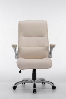 XL Chefsessel 150 kg belastbar creme Kunstleder Bürostuhl große schwere Personen - Vorschau 3