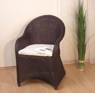 Rattansessel braun inklusive Kissen Auflage Rattan Rattanstuhl Sessel Stuhl neu