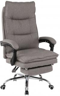 Bürostuhl 136kg belastbar hellgrau Stoffbezug Chefsessel Drehstuhl stabil robust