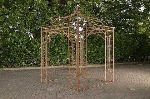 Pavillon Eisen antik braun Rankhilfe stabil Pergola Rosenbogen Rankgitter design