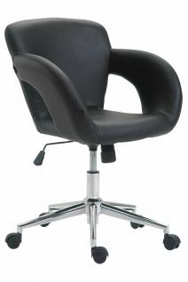 Bürostuhl schwarz 136 kg belastbar Kunstleder Drehstuhl modern design stylisch