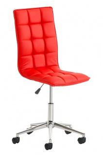 Bürostuhl Kunstleder rot Drehstuhl Arbeitshocker hochwertig modern design neu