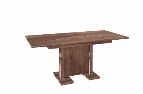 hochwertiger Säulentisch nussbaum ausziehbar Esstisch Auszug modern günstig
