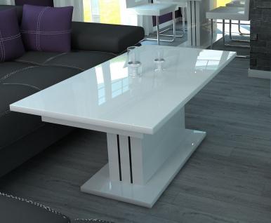 Couchtisch ausziehbar Wohnzimmer Auszugtisch design Hochglanz weiß günstig neu