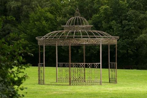Luxus Pavillon Eisen bronze antik Pergola Rosenbogen Gartenpavillon Romantik