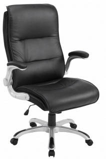 Chefsessel 150 kg belastbar Kunstleder schwarz Bürostuhl große schwere Personen