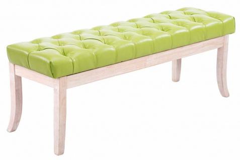 Sitzbank grün 120cm Kunstleder Vintage Chesterfield Design antik Hockerbank