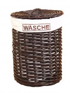 Wäschetruhe braun Wäschekorb Wäschebox Wäschesammler Wäschetonne rattan