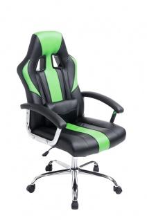 Bürostuhl 150 kg belastbar schwarz grün Kunstleder Chefsessel schwere Personen