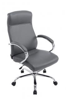 XXL Bürostuhl bis 210 kg grau edler Chefsessel modern design günstig hochwertig
