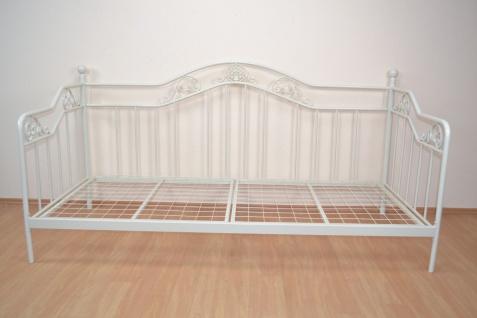 romantisches Tagesbett cremeweiß inkl. Lattenrost Day-Bed günstig preiswert neu