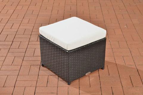 Polyrattan Garten Hocker schwarz inkl. Kissen Auflage Lounge Garten Terrasse