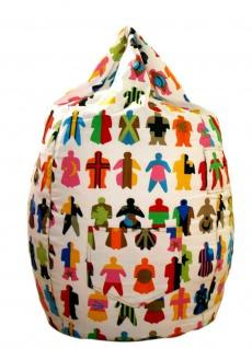 XL Riesensitzsack 65x75cm Menschen/People Sitzkissen Bodenkissen Indoor Sitsack