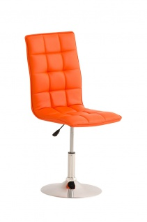 Esszimmerstuhl orange drehbar Lehnstuhl Küchenstuhl Kunstleder modern design