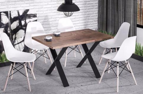 hochwertiger Esstisch nussbaum Esszimmertisch Küche Metallgestell modern design