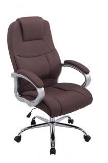 XXL Chefsessel bis 210 kg belastbar Stoffbezug braun Bürostuhl hochwertig stabil