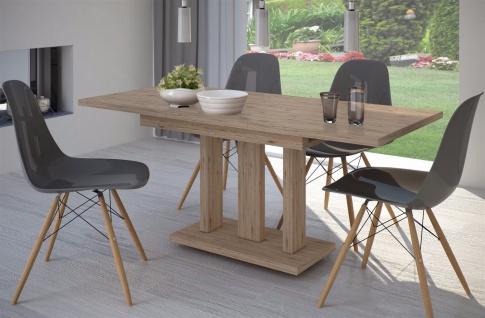 Säulentisch San Remo hell Esstisch ausziehbar Holz Auszugtisch modern design neu