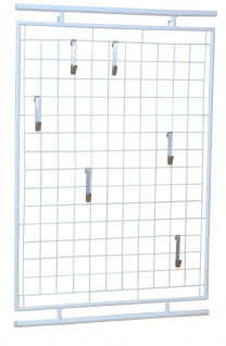 Wandgarderobe weiß Garderobe Kleiderstange wandmontage Metallgarderobe Haken