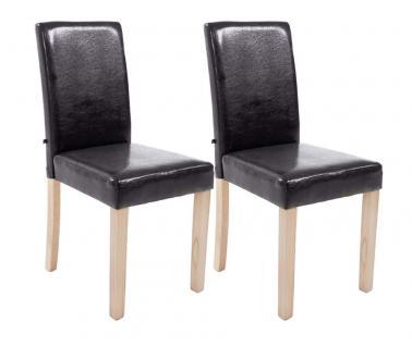 2 x Esszimmerstuhl braun Stuhlset modern günstig Küchenstühle Holzgestell design