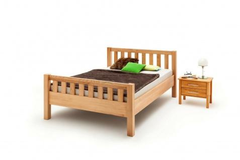 Komfortbett 180 x 200 Kernbuche massivholz geölt Bett Ehebett Doppelbett neu