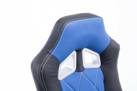 XL Bürostuhl 180kg belastbar schwarz blau Kunstleder Chefsessel schwere Personen - Vorschau 5