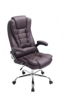 XL Chefsessel 150kg belastbar braun Bürostuhl feinstes Kunstleder hochwertig