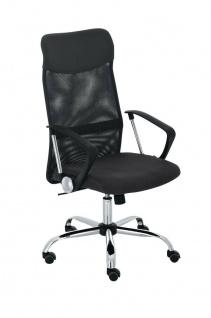 XL Bürostuhl bis 140 kg belastbar schwarz Netzbezug Chefsessel modern design neu