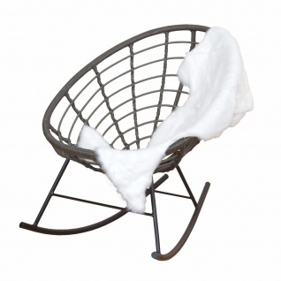moderner Schaukelstuhl schlammfarben Rattansessel Eisen Sitzschale design neu