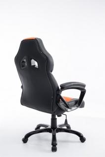 XL Bürostuhl 150 kg belastbar schwarz orange Kunstleder Chefsessel hochwertig - Vorschau 4