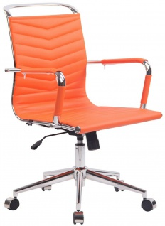 moderner Bürostuhl bis 136 kg belastbar orange Chefsessel design hochwertig neu