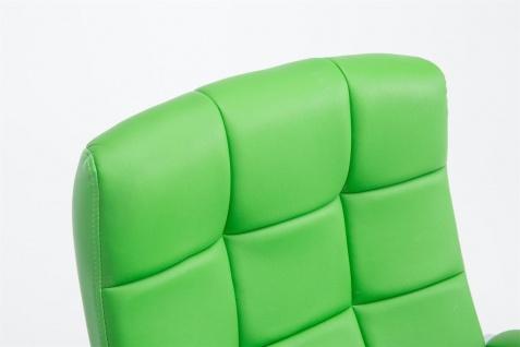 Bürostuhl 120 kg belastbar Kunstleder grün Chefsessel hochwertig stabil neu - Vorschau 4