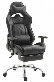 XL Chefsessel 150 kg belastbar schwarz Bürostuhl Fußablage Zocker Gamer robust