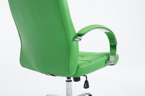 Bürostuhl 120 kg belastbar Kunstleder grün Chefsessel hochwertig stabil neu - Vorschau 3