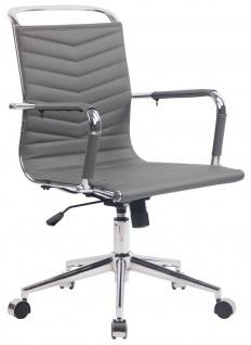 moderner Bürostuhl bis 136 kg belastbar grau Chefsessel design hochwertig neu