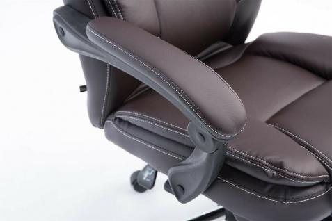 Bürostuhl 120 kg belastbar braun Kunstleder Chefsessel Computerstuhl Drehstuhl - Vorschau 5