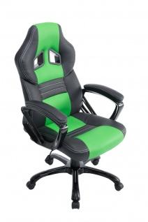 XL Bürostuhl 150 kg belastbar schwarz grün Kunstleder Chefsessel hochwertig