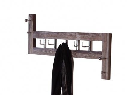 Wandgarderobe massivholz used look braun Hakenleiste Garderobenleiste Garderobe