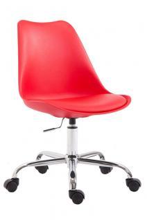 moderner Bürostuhl rot Kunststoff Kunstleder design Chefsessel Sitzschale