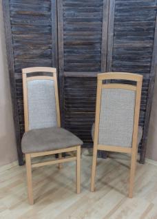 2 x Stühle Buche natur cappuccino massivholz Stuhlset Esszimmerstühle modern