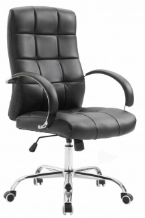 Bürostuhl schwarz Kunstleder 120kg belastbar Schreibtischstuhl Drehstuhl stabil