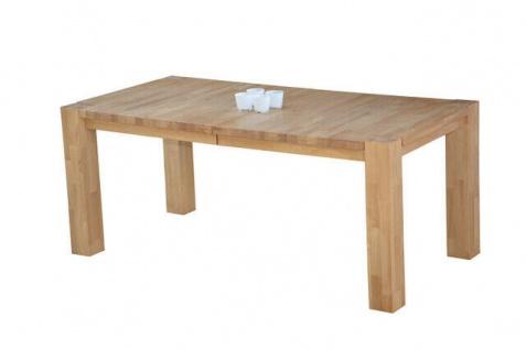 Auszugtisch 180-230 cm Eiche massiv geölt Esszimmertisch Vierfuss Esstisch neu