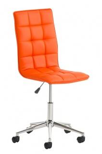 Bürostuhl Kunstleder orange Drehstuhl Arbeitshocker hochwertig modern design neu