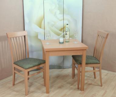 Tischgruppe Buche massiv natur oliv Essgruppe 2 x Stühle Esstisch Holz Stuhlset